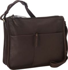 Derek Alexander EW Twin Top Zip Semi Structured Handbag   Brown - via eBags.com!  -  crossbody.     lj