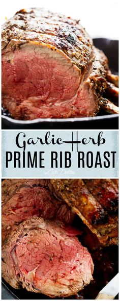 Garlic Herb Prime Rib Roast is the perfect Christmas dinner, full of flavour with a kick of garlic, and ready in under one hour!