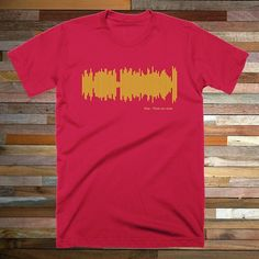 Gold and red for Years And Years with King.  Unique shirts for unique people. Teesounds - Music you can wear @ teesounds.com