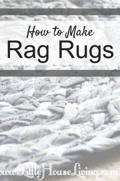 How to Make Rag Rugs – Homemade Braided Rugs – Braided Rugs Diy Rag Rug Diy, Fun Crafts, Diy And Crafts, Little House Living, Braided Rag Rugs, Homemade Rugs, Rag Rug Tutorial, Old Sheets, Diy Braids