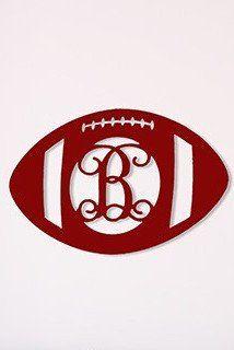 Wooden Decor: Football Monogram