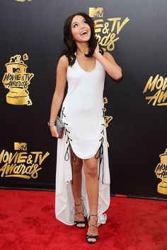 American actress and singer, Isabela Moner, was spotted wearing Duet by Belle Étoile while attending the 2017 MTV Movie and TV Awards at the Shrine Auditorium on May 7th, 2017.