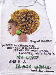 Beyoncè' tshirt, Natural Hair, curly hair t-shirt, kinky hair, african american, black
