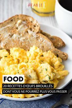 Les œufs brouillés, synonymes de brunch et de breakfast anglo-saxon, sont un délice qu'on aurait tort de laisser de côté. Oeuf Bacon, Brunch, Anglo Saxon, Mashed Potatoes, Diners, Chicken, Meat, Ethnic Recipes, Table