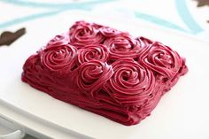 easy dyi rose icing cake