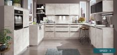 Buy a high quality Nobilia Speed 281 Kitchen online. Nobilia Kitchen, Kitchen Maker, Cocinas Kitchen, Kitchen Sets, Kitchen Living, Kitchen Appliances, Decoration Gris, Small Floor Plans, German Kitchen
