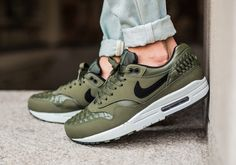 Nike Air Max 1 Premium Olive Womens | AT0072 200 | The Sole