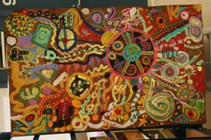 Collaborative Art -- Circle Paintings -- 3rd grade