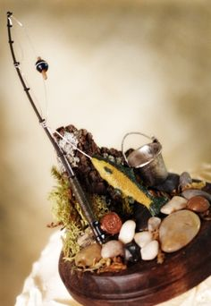 1000 images about fishing wedding themed on pinterest for Fishing themed cake toppers