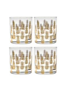 Pineapple Old Fashioned Glasses