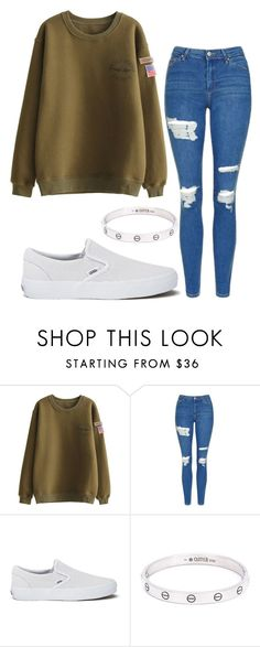"""#No name"" by eemaj ❤ liked on Polyvore featuring Topshop, Vans and Cartier"