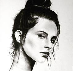 Charcoal art by Denn