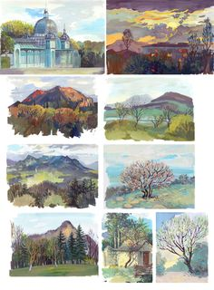 New part of plain air work, now in the mountains. Plein air in the Caucasus Gouache Painting, Painting & Drawing, Painting Tips, Landscape Art, Landscape Paintings, Landscapes, Painting Inspiration, Art Inspo, Tag Art
