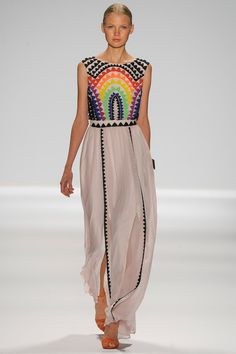 oh, what a simple #graphicprint can do to an outfit! <3 {Mara Hoffman #Spring2014 Ready-to-Wear Collection} #nyfw