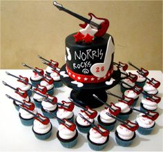 11 Best Guitar Cupcakes Images Guitar Cupcakes Guitar Cake