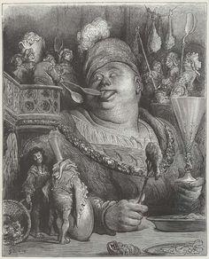 Gustave Dore  Иллюстрации  Франсуа Работе Гаргантюа и Пантагрюэль