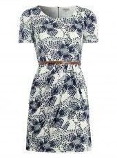 Alice & You Abstract Floral Print Tea Dress #softlyspoken