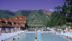 Glenwood Hot Springs Pool.... Fun town 3 hours west of Denver.  Tons of hiking, doc holiday grave