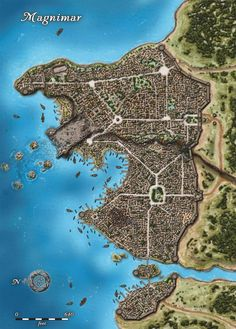 A city map for D&D or Pathfinder Fantasy city map Fantasy world map Fantasy city