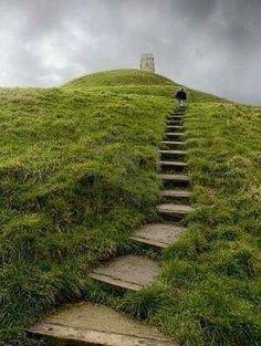 Glastombury Tor -Inghilterra- Sito delle storie di Re Artù