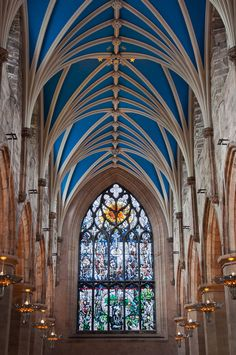 Saint Giles' Cathedral    Interior view    Edinburgh, Scotland    by The Clansman
