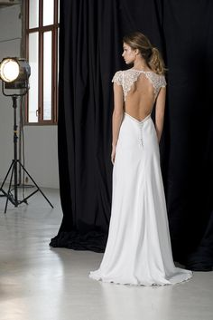 Whether you're looking for a simple, elegant wedding dress or chic bridal separates, find your gown in the new Lambert Créations wedding dress collection Open Back Wedding Dress, Elegant Wedding Dress, One Shoulder Wedding Dress, Wedding Dresses 2018, Bridal Dresses, Bridal Separates, Yes To The Dress, Dress Collection, Designer Dresses