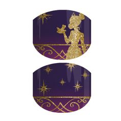 'Beauty in the Bayou Jr' features a royal purple background with a golden silhouette of the much-loved Disney Princess Tiana.