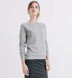 Sweat-shirt strassé Femme