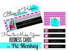 How to Make Your Own Business Cards in PicMonkey