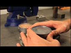 DIY How to Open a Can without Can Opener -Life hack #crazyrussianhacker #open #can #lifehack