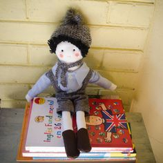RESERVED Handmade eco boy doll with by SeedsOfLoveHandmade on Etsy