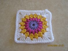 A GRANNY A DAY / 1 | First granny square for the challenge. … | Flickr