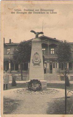 Denkmal zur Erinnerung  das Einzuges der deutschen in Libau.