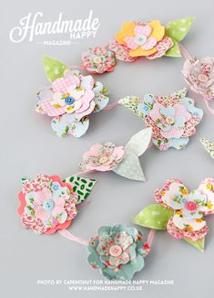 wire fabric flower garlands