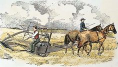 This machine had to be pulled by a horse or cattle because it was to heavy to be pulled by a man. Those are my horses jamar and lafonda
