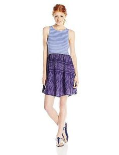 Medium, blue - Astral Aura Ikat Threads Patte, Roxy Women's Dress South Side J W