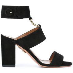 Aquazzura Safari sandals ($750) ❤ liked on Polyvore featuring shoes, sandals, black, kohl shoes, safari shoes, black sandals, aquazzura shoes and aquazzura