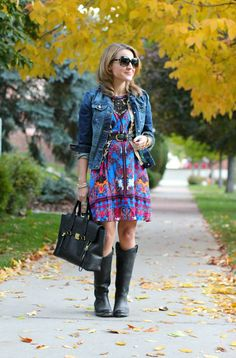 #Restyling a #Summer #Dress For #Fall  #