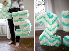 diy pinata. SO easy + cheap! made one for my daughter's birthday out of a costco diaper box.