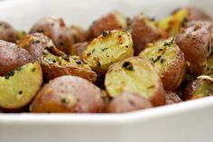 Parmesan garlic roasted potatoes...can be gluten free is you make sure to use the right stuff!