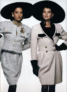 Quel Vent De Jeunesse - Vogue France (1987) Marpessa Hennink & Linda Evangelista by Bill King