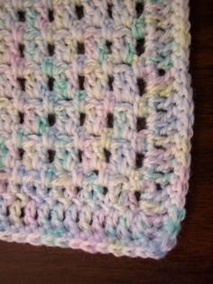 This baby blanket pattern is good for beginners.       It starts with a foundationless double crochet (directions and photos here , where i...