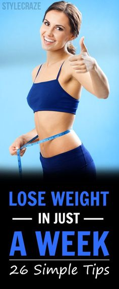 These 25 simple tips are going to help you shed the weight within a week and you are going to thank us in the end! Keep reading to learn more! loose weight in a week Weight Loss Meals, Weight Loss Shakes, Fast Weight Loss, Weight Loss Program, Healthy Weight Loss, Fat Fast, Lose Weight In A Week, Losing Weight Tips, Weight Loss Tips