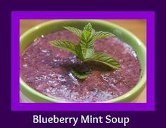 Blueberry Mint Soup