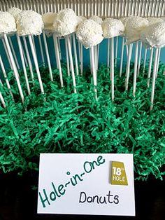 golf + food + substitute cake balls