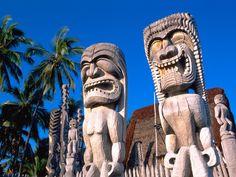Pu'uhonua o Honaunau (City of Refuge), Big Island, Hawai'i.