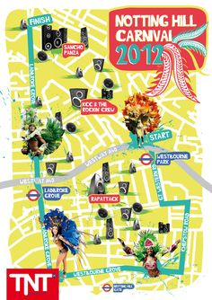 If you're heading to Notting Hill Carnival this weekend, take a copy of this map with you