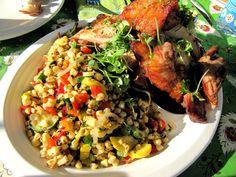 Grilled Corn, Bell Pepper, Summer Squash Succotash