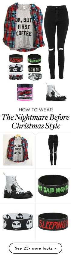 """""""My hair will be pink at the end of the week!"""" by hannahjello5sos on Polyvore featuring mode, Topshop, Dr. Martens et Manic Panic"""