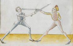 Lecküchner, Hans: Kunst des Messerfechtens Nordbayern, 1482 Cgm 582 Folio 74